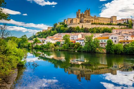 Orb River And Cathedral In Beziers - Hérault, Occitanie, France, Europe