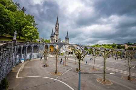 Rosary Basilica And Rosary Square - Sanctuary Of Our Lady Of Lourdes, Lourdes, Hautes-Pyrenees, Occitanie, France, Europe