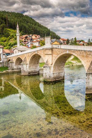 Konjic Old Bridge Above Neretva River - Konjic, Bosnia and Herzegovina, Europe