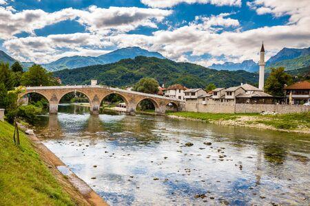 Konjic And Neretva River - Konjic, Bosnia and Herzegovina, Europe 版權商用圖片