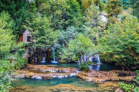 Old Watermill And Waterfall In Martin Brod - Una National Park, Bihac, Bosnia and Herzegovina, Europe