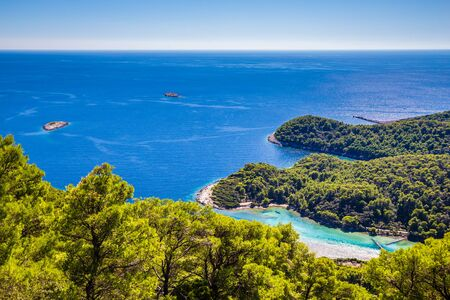 View From Montokuc Viewpoint - Mljet, Dalmatia, Croatia, Europe
