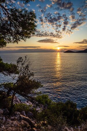 Sunset Above Sea - Mljet, Dalmatia, Croatia, Europe