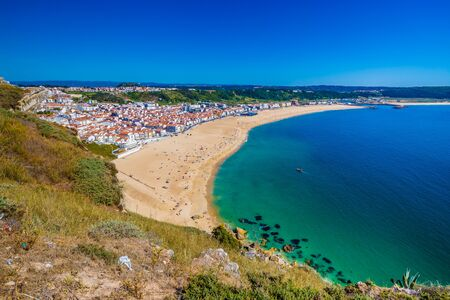 Nazare Beach From Forte De Sao Miguel - Oeste, Portugal, Europe