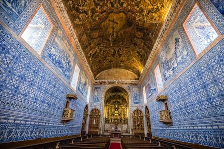 Interior Of The Royal Basilica Of Our Lady Of The Immaculate Conception - Castro Verde, Portugal, Europe Banque d'images - 140989418