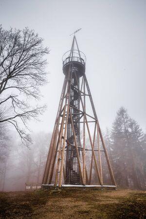 Maminka Lookout Tower - Krusna Mountain, Czech Republic, Europe 版權商用圖片