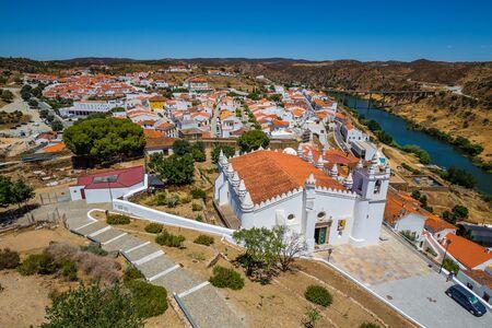 City Of Mertola And Church Of Nossa Senhora da Anunciacao - Mertola, Alentejo, Portugal, Europe
