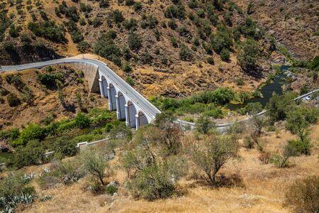 Bridge Over Guadiana River - Mertola, Alentejo, Portugal, Europe 版權商用圖片