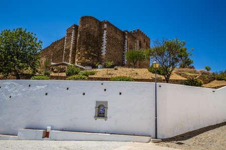 Castle of Mertola - Mertola, Alentejo, Portugal, Europe 新聞圖片