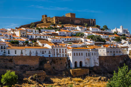 View Of Mertola City With Mertola Castle And Church - Mertola, Alentejo, Portugal, Europe