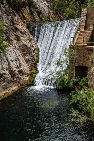Waterfall In Sierras de Cazorla, Jaen, Spain 版權商用圖片