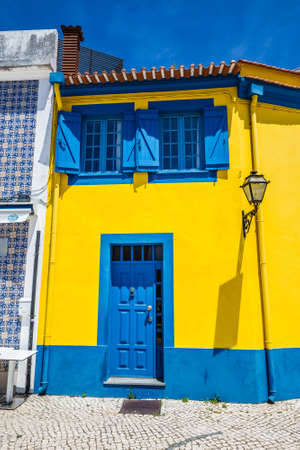 Colorful Building In Aveiro, Centro Region of Portugal, Europe