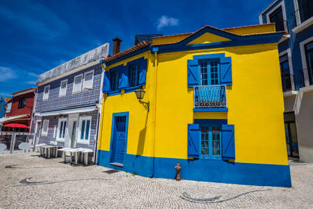 Colorful Buildings In Aveiro, Centro Region of Portugal, Europe