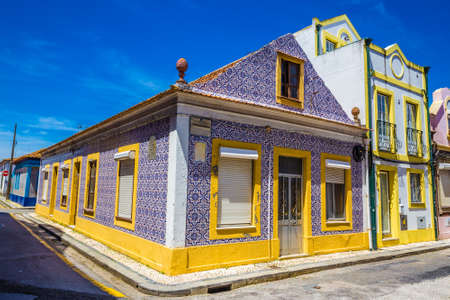 Tiled Building In Aveiro, Centro Region of Portugal, Europe Editorial