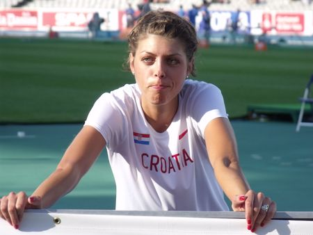 Barcelona, Spain - August 1, 2010 - Blanka Vlašić before starting high jump final at European Athletics Championships 2010