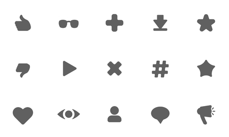 user activity statistic icons. flat vector elements Иллюстрация