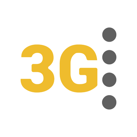 Flat 3g vector icon with  geometric  background. space and stars. Base stations signal strength dots