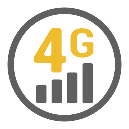Flat 4g illustration lte signal strength indicator