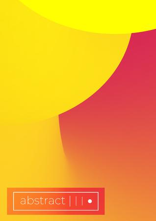 set of Modern colorful vector geometric leaflet  mock up. Futuristic cover promotion design.scientific molecule circle.Formula illustration. A4 vertical.Yellow, red, rose, peach,orange colors Stock Illustratie