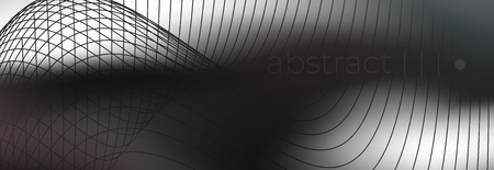 Dark fog smoke on white backdrop. Smoky wave abstract vector background. Geomtric lined shape