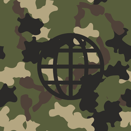 Camouflage military seamless pattern vector. Army green and brown texture