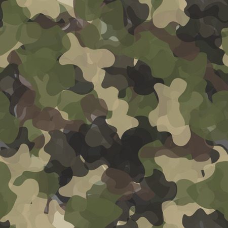 Camouflage military seamless pattern vector. Army green and brown texture Vector Illustratie