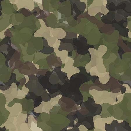 Militärischer nahtloser Mustervektor der Tarnung. Armeegrüne und braune Textur Vektorgrafik