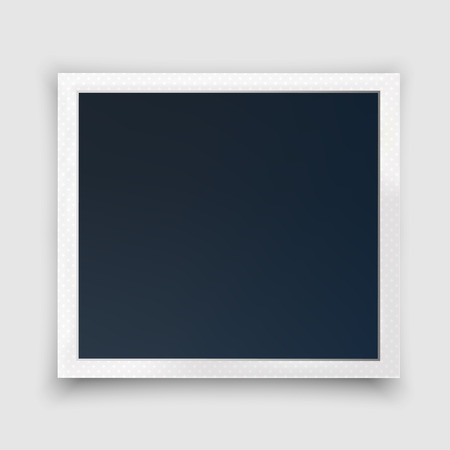Vector photo frame mockup design.Modern trendy squared size. Isolated with shadow