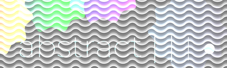 Modern design. Abstract vector style. WAvy lines trendy composition.