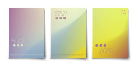 Minimalistic abstract clean colorful covers template set. Иллюстрация