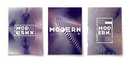 Minimal vector acrylic paint liquid marble texture covers design set mockup. Abstract fluid arts with halftone gradients