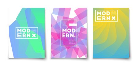 Abstract gradient geometric overlap shapes vector cover set.