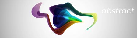 Abstract creative color fluid splash on white   vector background template design for brochure, website, flyer.