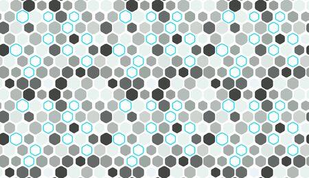 Fond de vecteur géométrique transparente motif hexagonal. Conception abstraite minimaliste en nid d'abeille plat simple