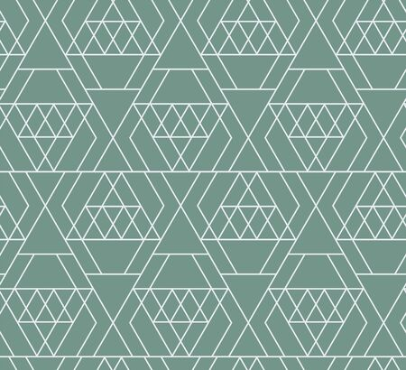 Abstract diamonds geometric lines seamless pattern. Flat  brilliant rock edge brink. Vector triangular grid.