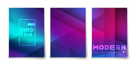 Minimal abstract geometric shapes color lines vector background