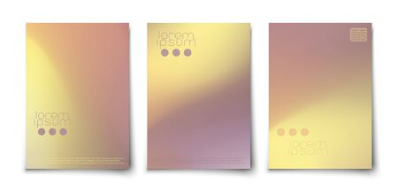 Minimalistic abstract clean colorful covers template set. Vectores