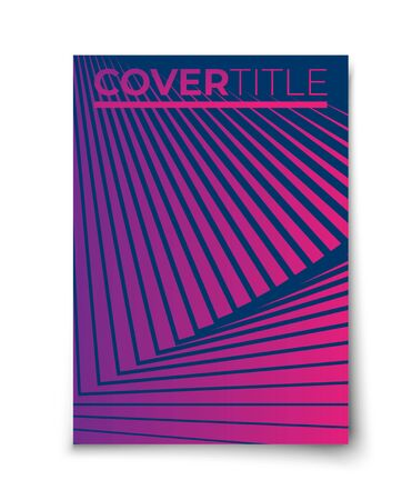 Minimal vector covers design set mockup. Abstract geometric fan elements and swirl lines. Halftone gradients