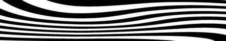 abstract black and white curved lines vector. Wide background dynamic wavy distorted lines template Иллюстрация
