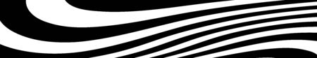 abstract black and white curved lines vector. Wide background dynamic wavy distorted lines template Vectores