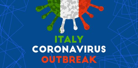 Italy flag coronovirus background.   ncov-2019 covid-2019 outbreak.  vector illustration Vectores