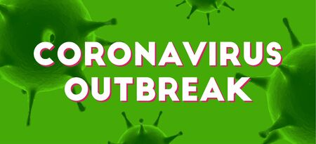 Coronavirus outbreak message. 3d Virus cells vector background. ncov-19 covid-19 epidemic