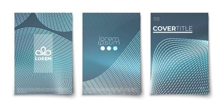 Modern banner with  futuristic abstract glowing on dark background for concept design.  Vector banner illustration template. Dark background.