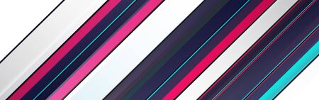 Multicolored lines geometric dynamic sport light  bright vector background.  lined background for cover design.  Technology trendy graphic design.
