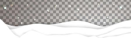 Winter landscape 3d snowdrift vector template xmas