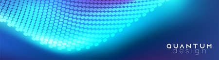 Abstract futuristic background with neon lines. Hi-tech trendy contemporary design. Glowing spots. Minimalistic gradient. Vector illustration