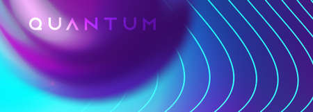Techno futuristic twisted hi-tech background. Neon ulra violet colors. Smoky vibrant swirl flow. Abstract ai big data flow vector template. Иллюстрация
