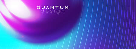 Glossy fluid shape. Techno futuristic twisted hi-tech background. Neon ulra violet colors. Smoky vibrant swirl flow. Abstract ai big data flow vector template.