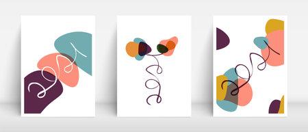 2021 one line lettering art vector. Organic shapes flower. Minimal boho mid century interior design. Vector cover mockup for leaflet, brochure, wallpaper