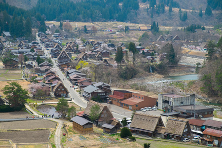 shirakawago:  Village, Shirakawago, Gifu, Takayama, Japan Editorial